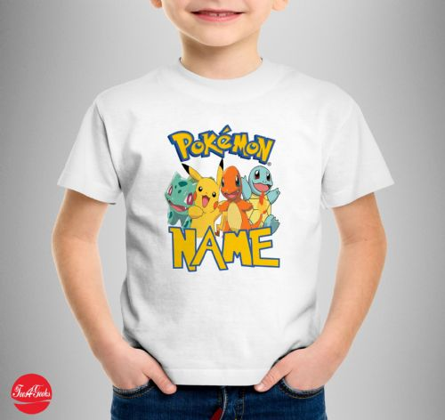 Personalised Pokemon T-shirt